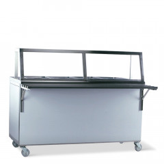Food service counter Hot 4 x 1/1 GN incl. extra level