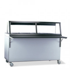 Food service counter Hot 4 x 1/1 GN incl. extra level and food warming lamp