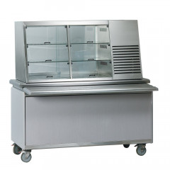Counter food display cooler